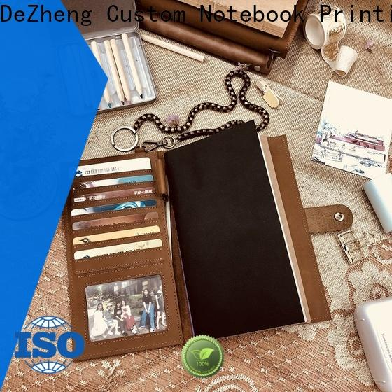 Dezheng best leather bound notebook for wholesale For student