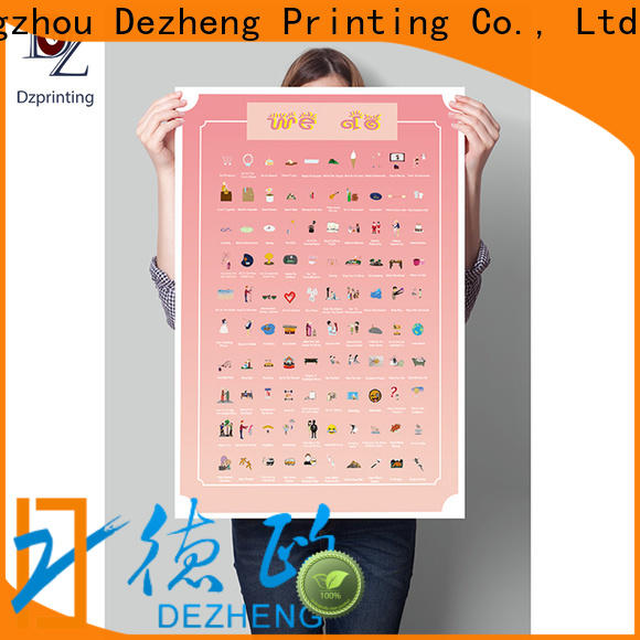 Dezheng portable 100 things to do scratch off bucket list poster Suppliers For business