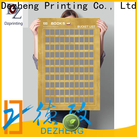 Dezheng high-quality book scratch poster for business For movies collect