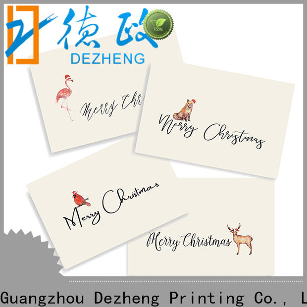 Dezheng High-quality custom merry christmas cards manufacturers for Christmas gift