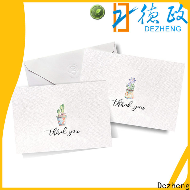 portable greeting card with envelope thank for festival