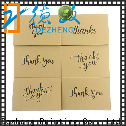 Dezheng portable thank you card for friend factory for friendship