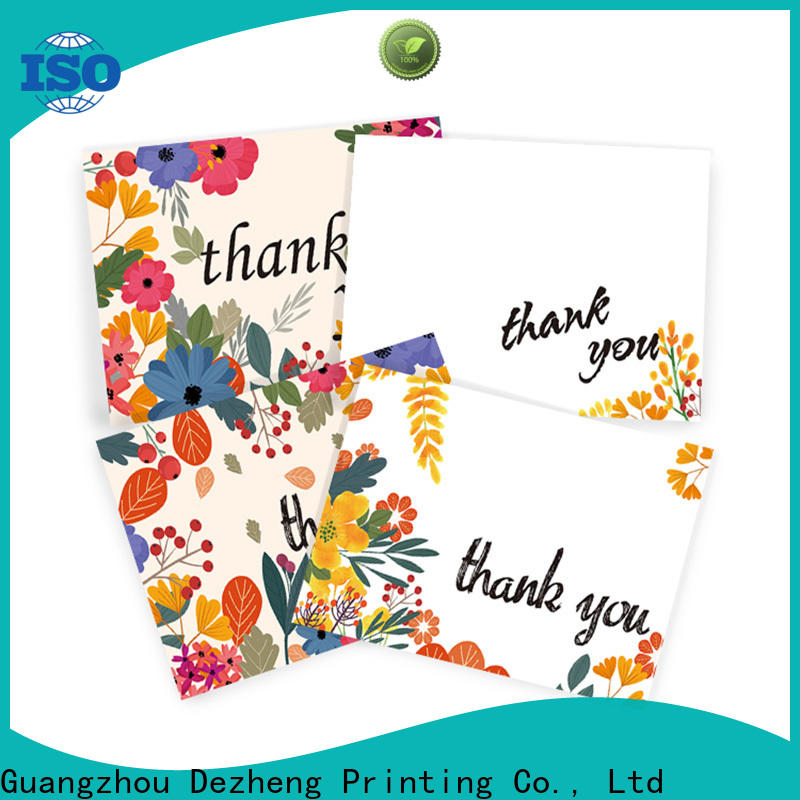 Dezheng quality classic thank you cards factory for gift