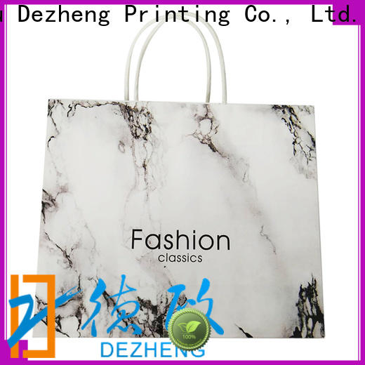 Dezheng white paper bags with handles Suppliers for festival
