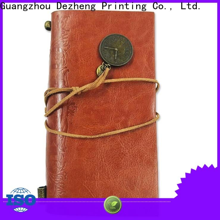 Dezheng Latest best leather notebook bulk production For student