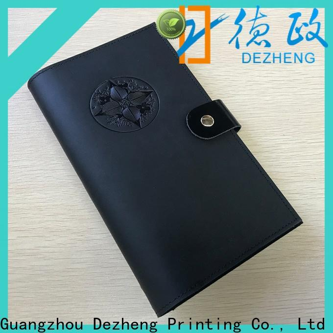 Dezheng portable leather travel journal for business For meeting