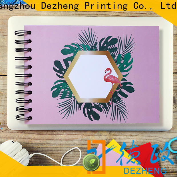 Dezheng linen self adhesive photo albums for sale factory for friendship