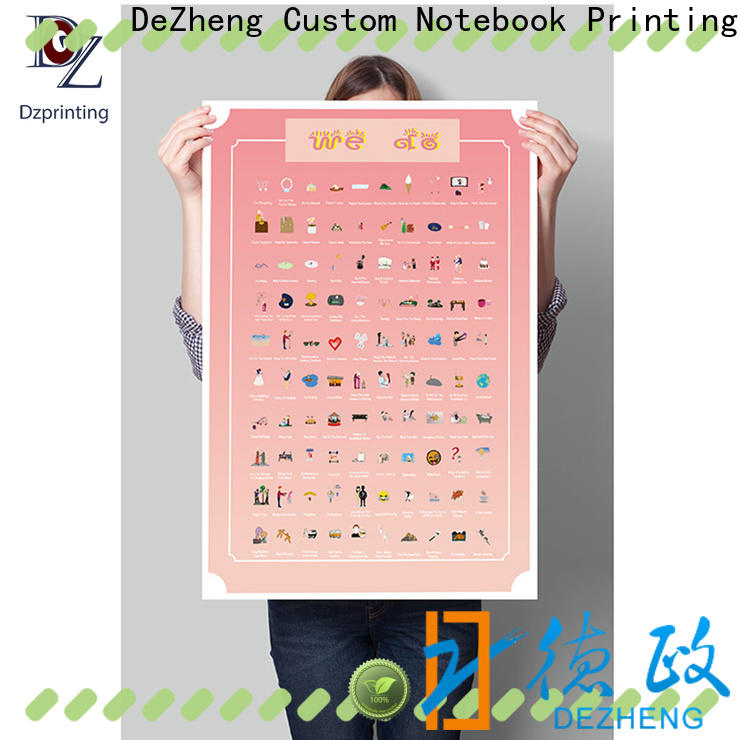 Dezheng 100 things scratch off poster customization For meeting