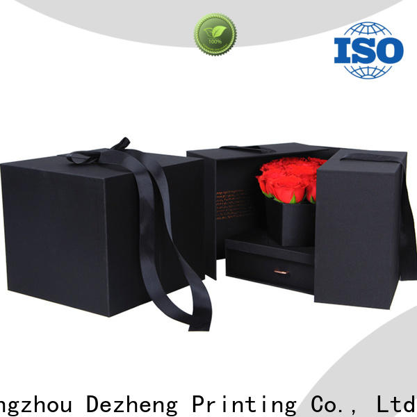 Dezheng book recycled paper jewelry boxes for gift