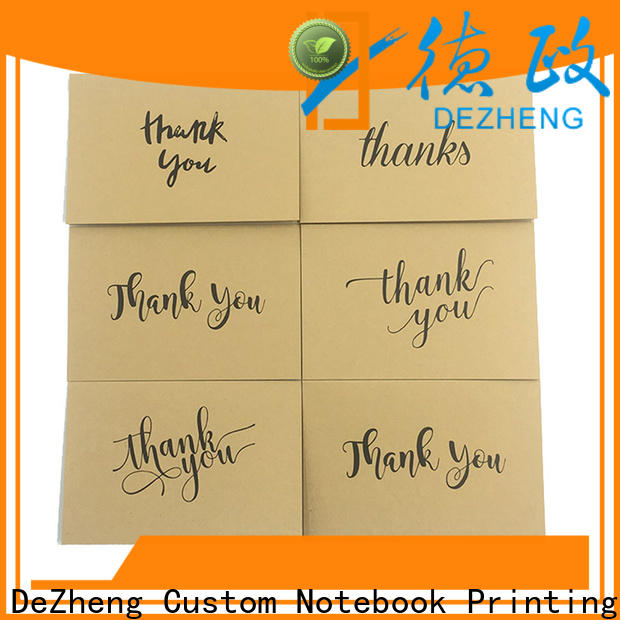Dezheng recycled custom congratulations cards Supply for friendship
