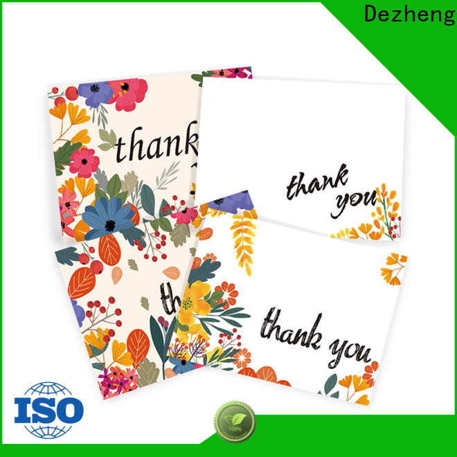 Dezheng Custom personalised thank u cards for business for gift