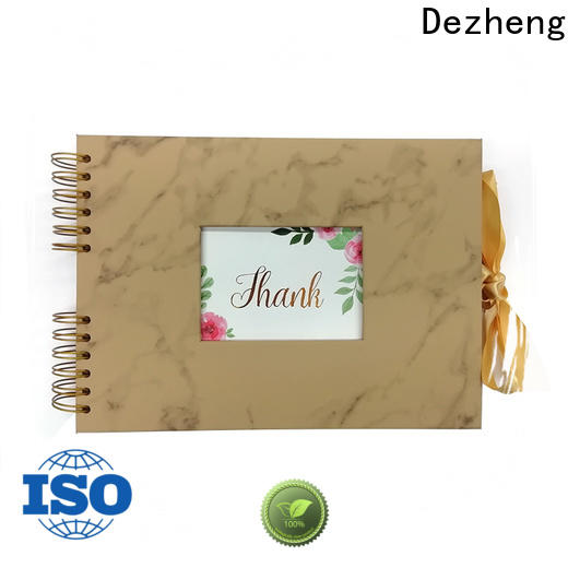 Dezheng portable personalized leather photo albums factory For photo saving