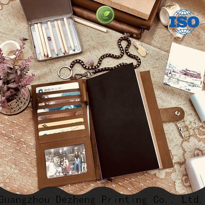 Dezheng Top leather journal cover company For student