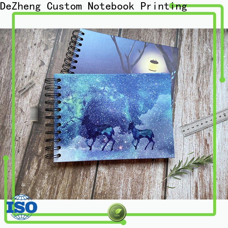 Dezheng linen self stick albums for photographers Supply for gift