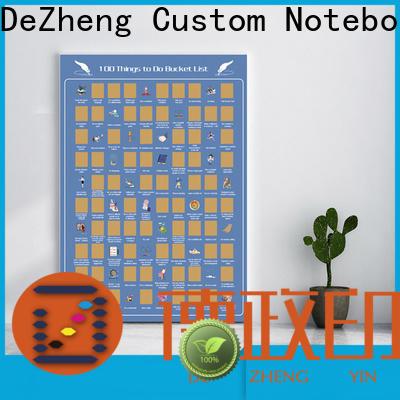 Dezheng bucket list scratch poster customization