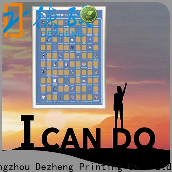 Dezheng manufacturers scratch off poster Supply