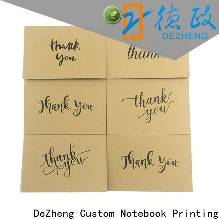 Dezheng portable personalized congratulations cards Supply for gift