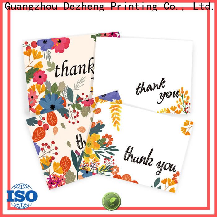 Dezheng envelope professional thank you cards for gift