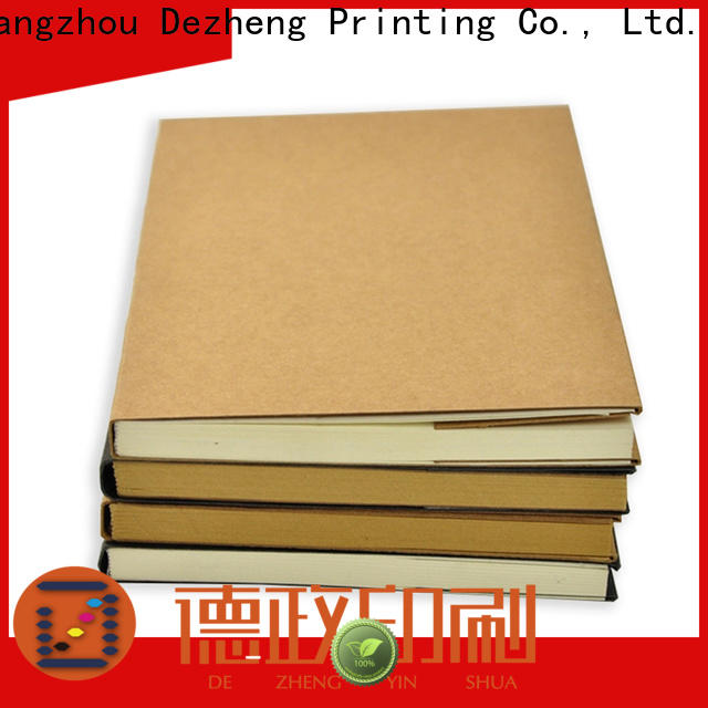 Dezheng Customized Leather Bound Journals Manufacturers Supply For notebooks logo design