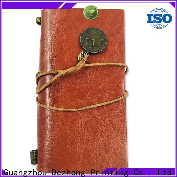 Dezheng customised leather notebook For meeting