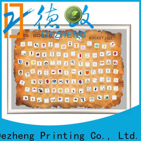 Dezheng High-quality scratch off book list manufacturers For