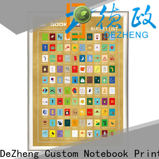 Dezheng Custom scratch off book list customization For