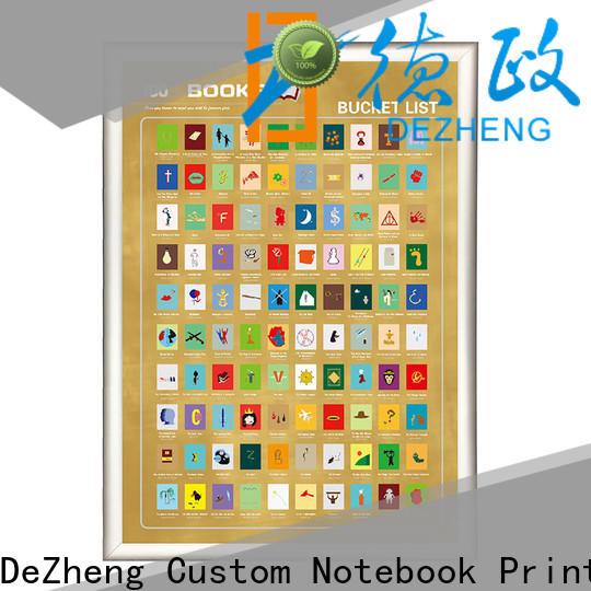 Dezheng Custom scratch off book list customization For