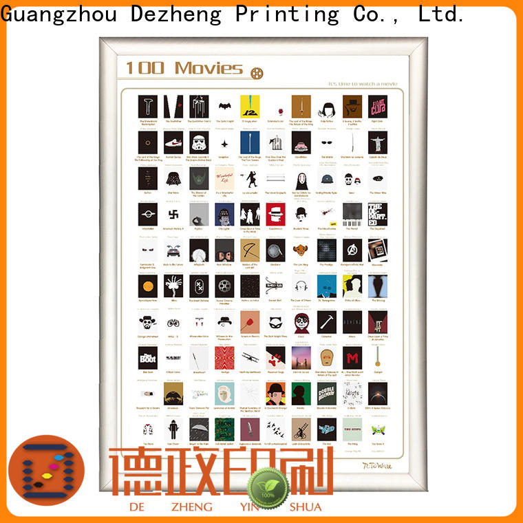 Dezheng Custom scratch off movies Suppliers for movie collect