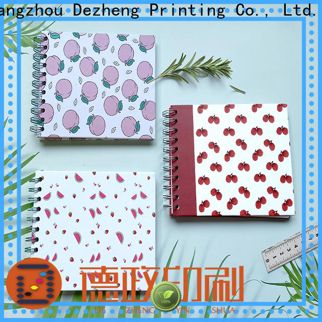 Dezheng linen self adhesive scrapbook albums Supply for friendship
