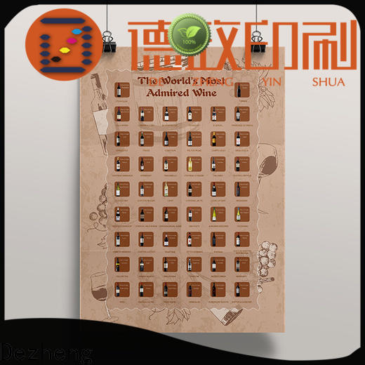 Dezheng factory scratch poster