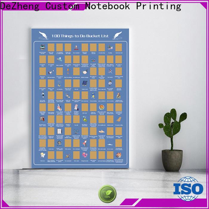 Dezheng bucket list scratch poster factory