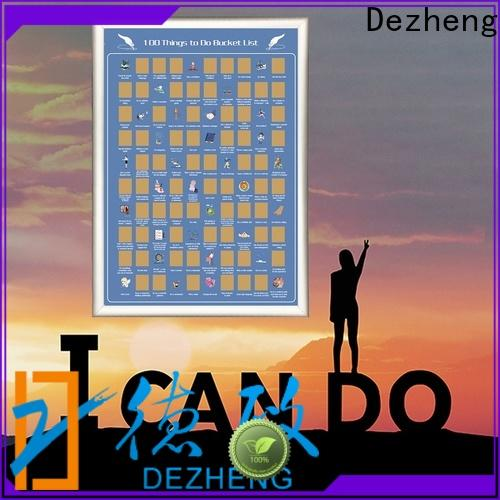 Dezheng scratch off poster company