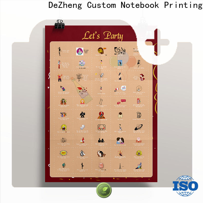 customization scratch poster for business