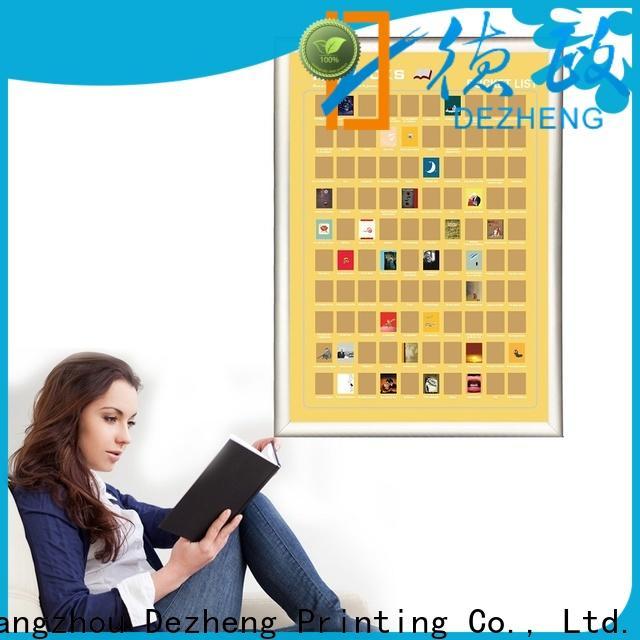 Dezheng poster scratch off book list For