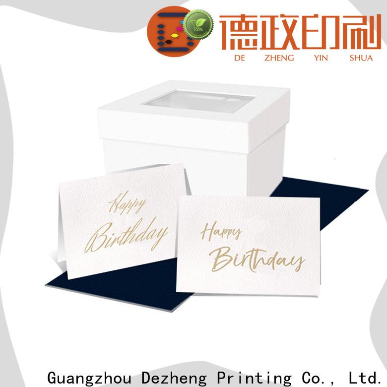 Dezheng Custom custom birthday card maker For gift card