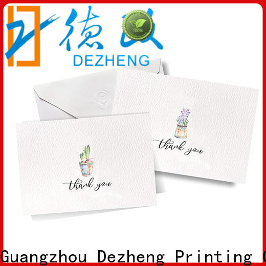 Dezheng gold greeting card price customization for festival