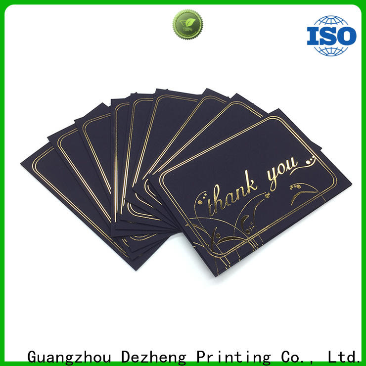 Dezheng pack greeting card style factory for festival