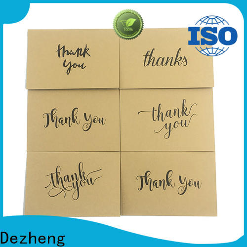 Dezheng paper thankful cards company for friendship
