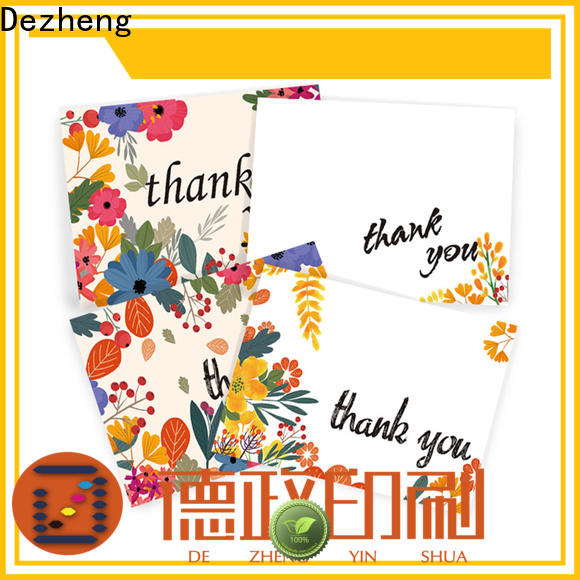 Dezheng pack thank you card with envelope Supply for gift