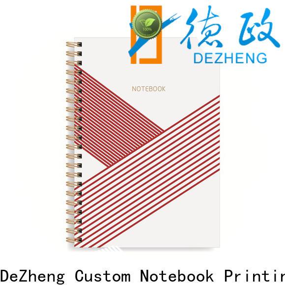 Dezheng spiral custom spiral notebooks wholesale customization For school