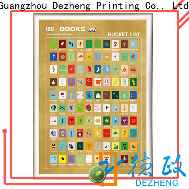 Dezheng must scratch off poster customization For movies collect