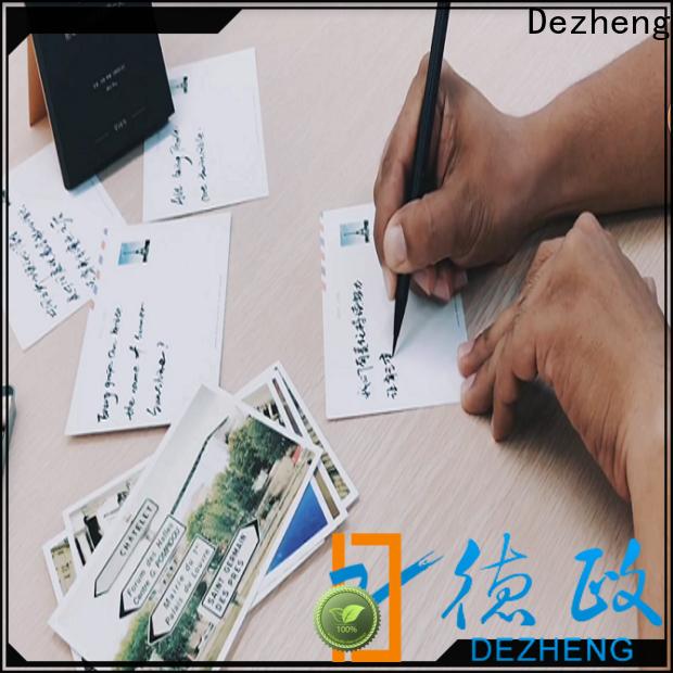 Dezheng white greeting card style for festival
