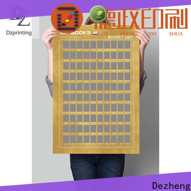 Dezheng bucket scratch poster factory For