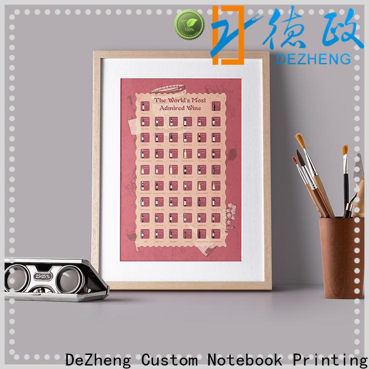 Dezheng bucket list scratch poster Supply