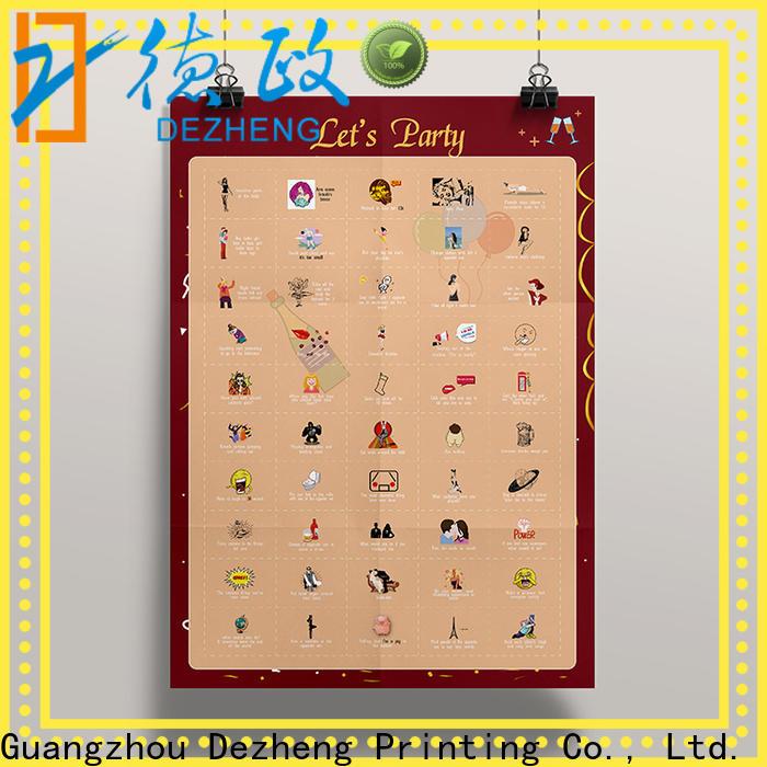Dezheng Supply bucket list scratch poster company