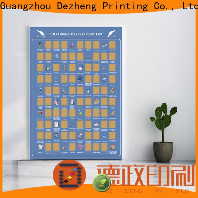 Dezheng scratch off poster Suppliers
