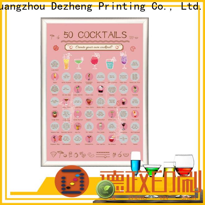 Dezheng for business scratch poster