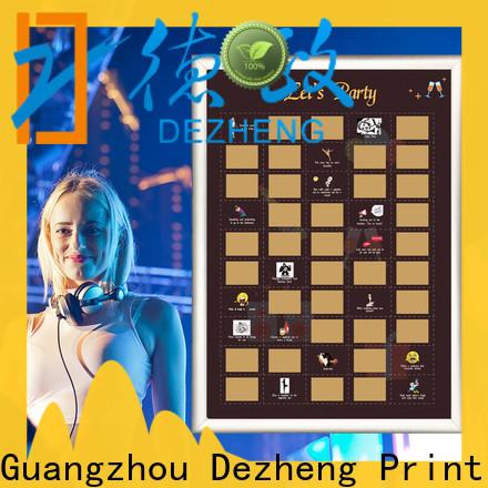 Dezheng scratch poster Supply