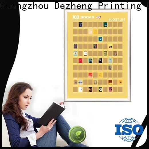 Dezheng latest book scratch poster for business For