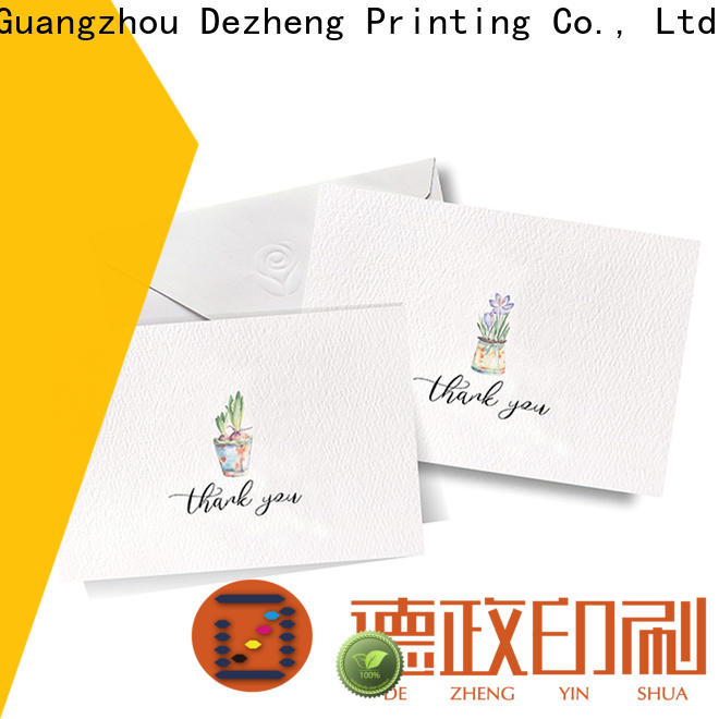 Dezheng portable custom holiday greeting cards factory for friendship